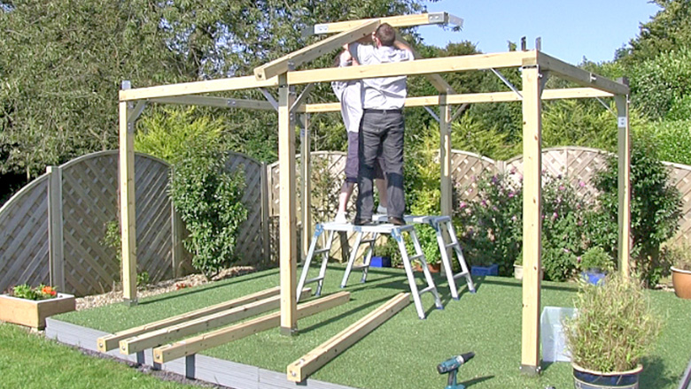 Easy build video white pavilion for Gazebo plegable easy