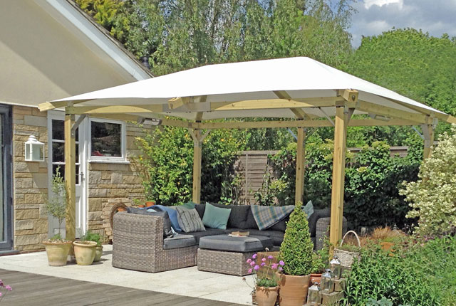 LUXURY GARDEN GAZEBO White Pavilion
